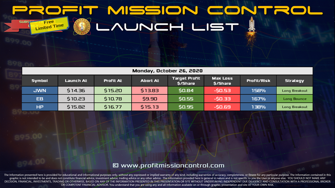 Launch List 10-26-2020